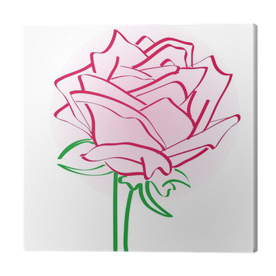 Sketch Of Rose Canvas Print Pixers We Live To Change