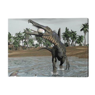 One Of The Few Meat Eating Dinosaurus Bigger Than Tyrannosaurus Rex It Was One Last Fish Dinosaurs In History It Also Had A Sail On Its Back