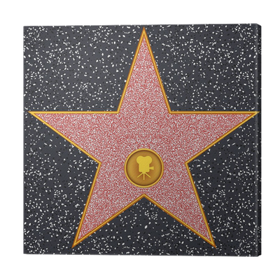 Star Classic Film Camera Hollywood Walk Of Fame Canvas