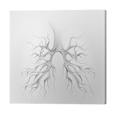 Tree Lungs Of The Earth Realistic Sketch Canvas Print Pixers We Live To Change