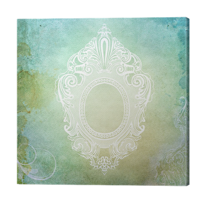 Vintage Shabby Chic Background With Frame Canvas Print O PixersR We Live To Change