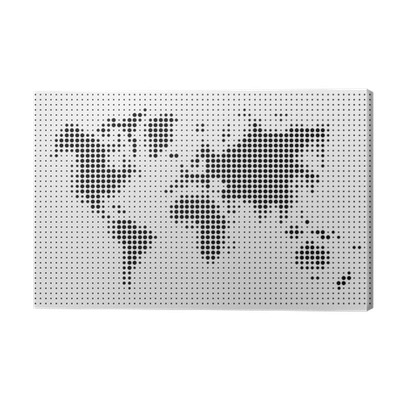World map black dots atlas composition eps10 vector file canvas world map black dots atlas composition eps10 vector file canvas print pixers we live to change gumiabroncs Gallery