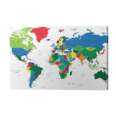 World map countries canvas print pixers we live to change gumiabroncs Images