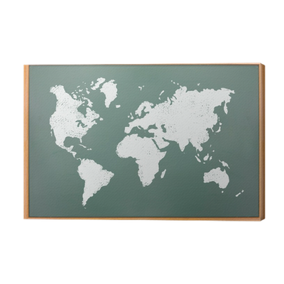 World map draw on blackboard canvas print pixers we live to change gumiabroncs Choice Image