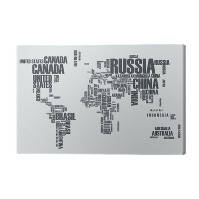 World mapthe contours of the country consists of the words canvas world mapthe contours of the country consists of the words canvas print pixers we live to change gumiabroncs Gallery
