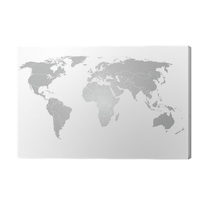World map vector grey gradient canvas print pixers we live to world map vector grey gradient canvas print pixers we live to change gumiabroncs Choice Image