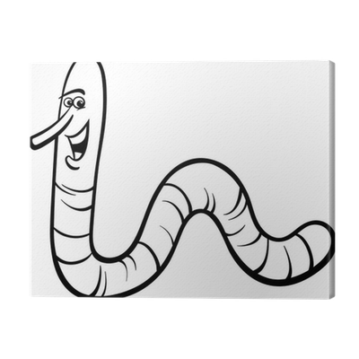 Canvas Regenworm Cartoon Kleurplaat Pixers We Leven Om Te