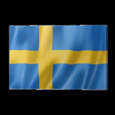 Canvastavla Svenska Flaggan Pixers Vi Lever For Forandring