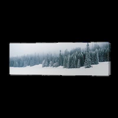 Canvastavla Vinter vit skog med snö, jul bakgrund • Pixers® - Vi lever för  förändring