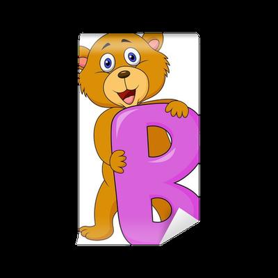 Carta da parati alfabeto b con lorso dei cartoni animati u2022 pixers