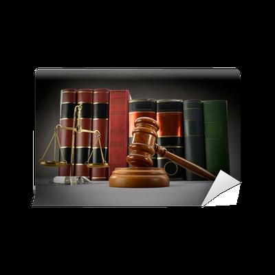 Carta da parati bilancia della giustizia legge libri e for Carta parati libri