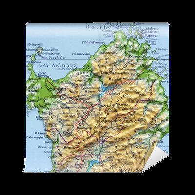 Carta da parati carta geografica della sardegna pixers for Carta da parati cartina geografica