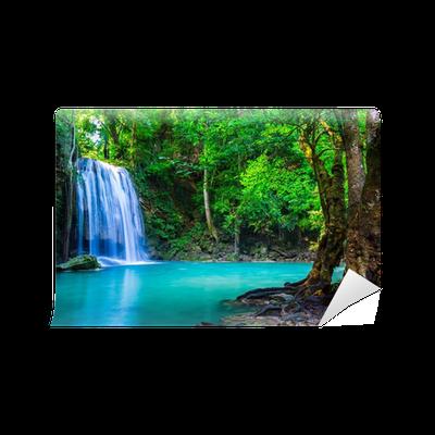 Carta da parati cascata nella foresta tropicale dove si for Carta da parati dove si compra