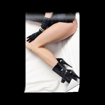 Carta da Parati Donna gambe in stivali tacco alto a spillo fetish • Pixers® Viviamo per il cambiamento