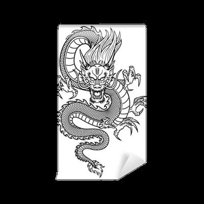Carta da parati drago cinese pixers viviamo per il for Carta da parati cinese