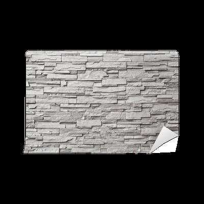 Carta da parati il muro di pietra grigia moderna pixers for Carta parati grigia