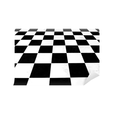 Carta da parati in bianco e nero a scacchi linoleum pavimento sfuggente pixers viviamo per - Piastrelle linoleum autoadesive ...