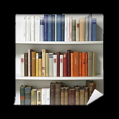 Carta da parati libreria 01 pixers viviamo per il for Carta da parati libreria