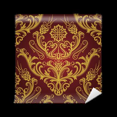 Carta da parati luxury rosso e oro carta da parati for Carta da parati oro