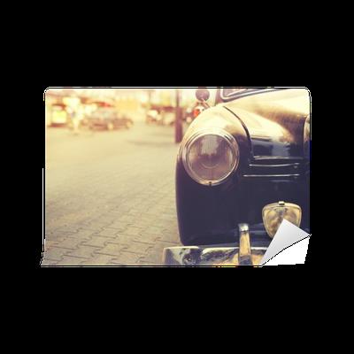 Carta da parati particolare della classica auto lampada for Carta da parati particolare
