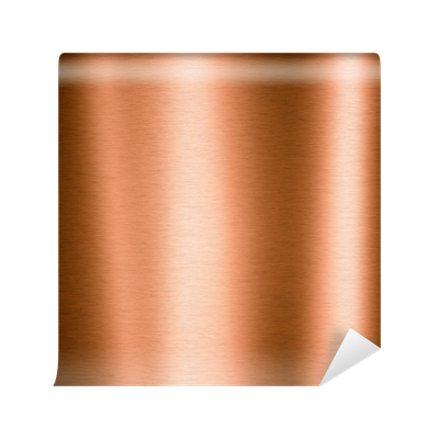 Carta da parati rame spazzolato foglio metallico pixers for Foglio metallico