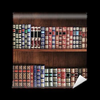Carta da parati scaffali pieni di libri pixers for Carta parati libri