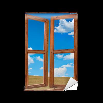 Carta da parati telaio della finestra con un bellissimo for Piano del telaio della finestra