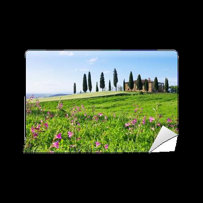 Carta Da Parati Toskana Haus Mit Blumen   Casa Toscana E Fiori 02 U2022 Pixers®    Viviamo Per Il Cambiamento