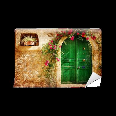 Carta da parati vecchie porte greche immagine in stile for Carta da parati per porte