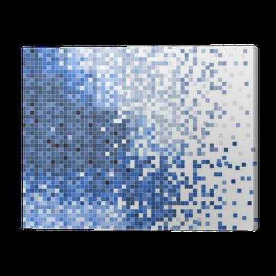 Cuadro en lienzo abstracto azul del vector del mosaico de p xeles de ilustraci n de fondo - Fotomurales pixel ...
