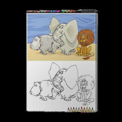 Cuadro en Lienzo Animales Salvajes Safari para colorear • Pixers ...