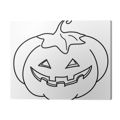 Cuadro en Lienzo Calabaza de Halloween para colorear • Pixers ...