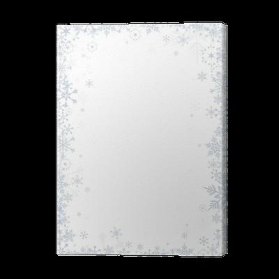 Cuadro en Lienzo Copos de nieve en el fondo blanco del vector del ...