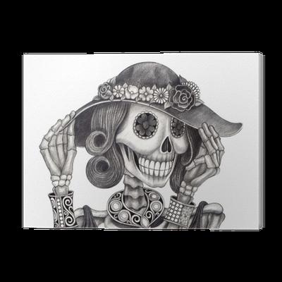 Cuadro En Lienzo Día Del Arte Del Cráneo De Los Deadart Diseño