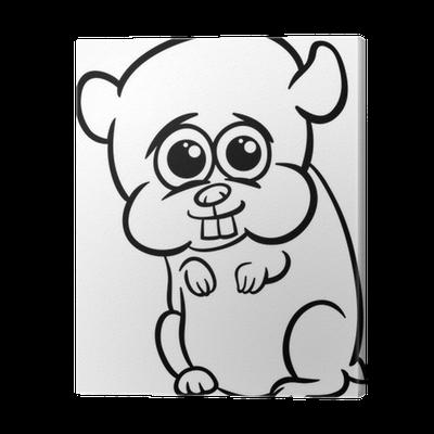 Cuadro en Lienzo Hámster bebé para colorear de dibujos animados ...