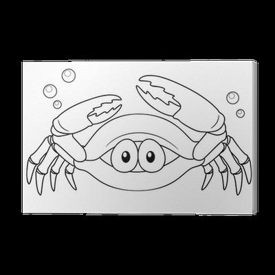 Cuadro en Lienzo Ilustración de cangrejo de la historieta - Libro ...