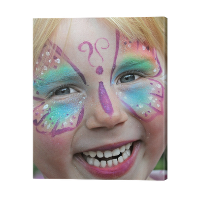 Cuadro en lienzo pintura de la cara para el carnaval de - Pinturas de cara para ninos ...