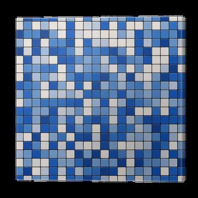 Cuadro en lienzo seamless textura peque os azulejos azul for Azulejos pvc autoadhesivos