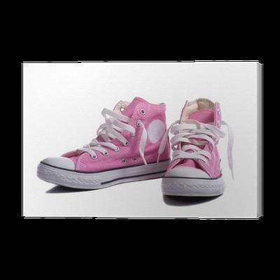 Cuadro en Lienzo Zapatillas o zapatos de baloncesto Rosa • Pixers ...