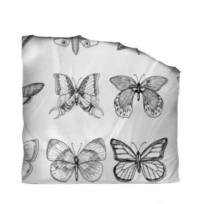 Tattoo Or Boho T Shirt Or Scrapbooking Design Mystical Esoteric Symbol Of Freedom And Travel Butterfly Or Insect Sketch Entomological Collection Engraved Hand Drawn In Old Sketch And Vintage Style Duvet Cover