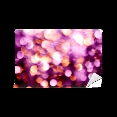 Fotobehang Abstract Onscherpe Blur Paars Kerstverlichting Pixers