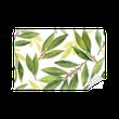 Vinyl Fotobehang Aquarel baai blad naadloze patroon van bloemen en bladeren geïsoleerd op een witte achtergrond.