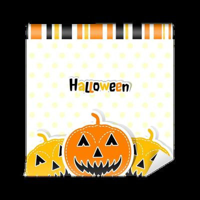 Sjabloon Halloween.Fotobehang Sjabloon Halloween Wenskaart Vector Pixers We Leven Om Te Veranderen
