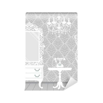 Fotobehang Vrouw kamer in vintage, boudoir stijl • Pixers® - We ...