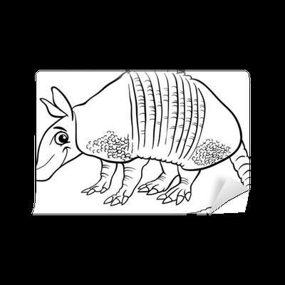 Fotomural Animales armadillo página para colorear de dibujos ...