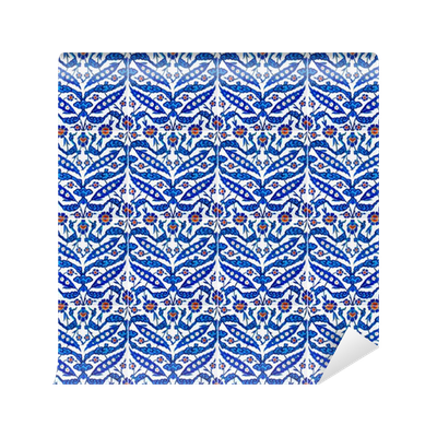 Fotomural azulejos turcos de la mezquita rustempasa en for Azulejos pvc autoadhesivos