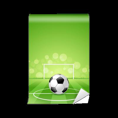 Fotomural Balón de fútbol en fondo verde • Pixers® - Vivimos para cambiar 266e4026850cf