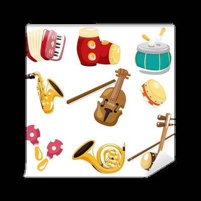 Fotomural De Dibujos Animados Icono De Instrumento Musical Pixers