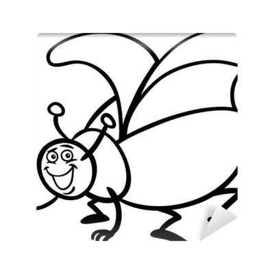 Fotomural Historieta del insecto del escarabajo para colorear ...