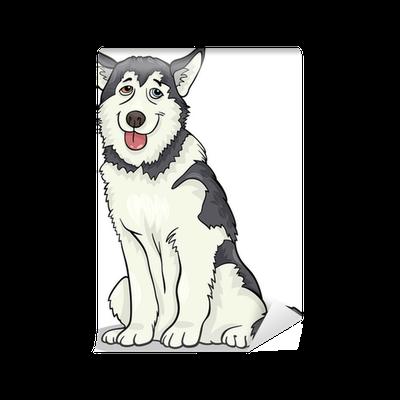 Fotomural Husky malamute o dibujos animados perro • Pixers ...